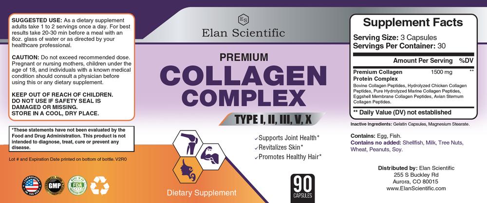 Elan Scientific Collagen Complex Supplement Facts