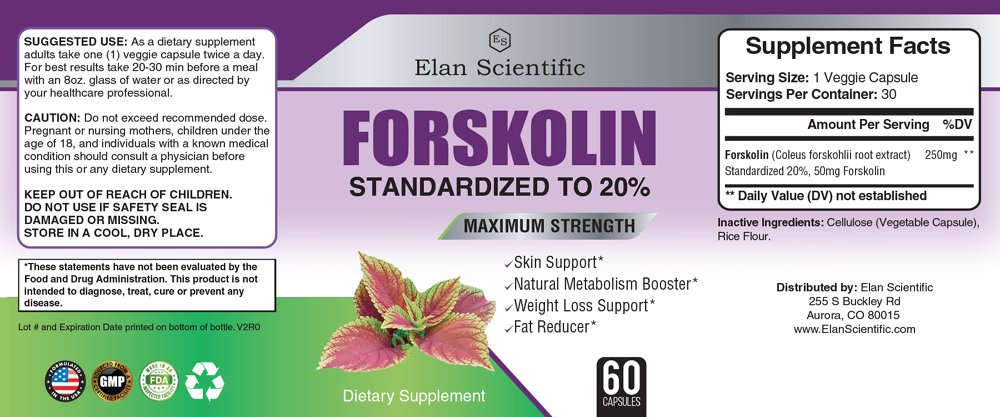 Elan Scientific Forskolin Max  Supplement Facts
