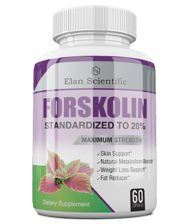 Elan Scientific Forskolin Max  ingredients bottle