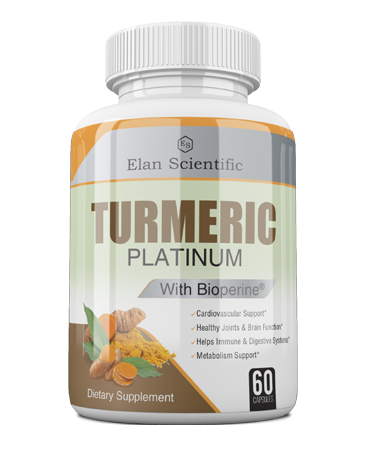 Elan Scientific TURMERIC W/ BIOPRENE Risk Free Bottle