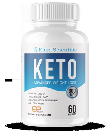 Elan Scientific Keto ingredients bottle
