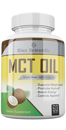 MCT Oil ingredients bottle