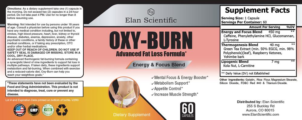 Elan Scientific Oxy Burn Supplement Facts
