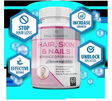 Elan Scientific Hair Skin & Nails Bottle Plus