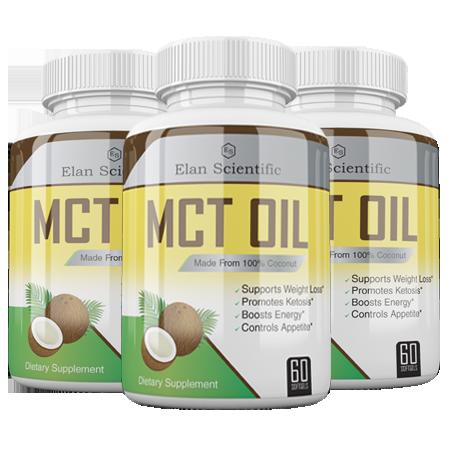 Elan Scientific MCT Oil Main Bottle
